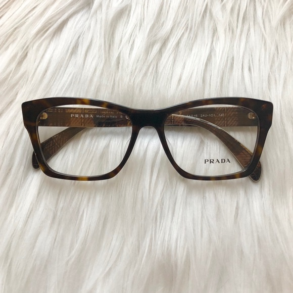 10a170db1f Prada VPR 22S Havana Optical Eyeglasses NWT